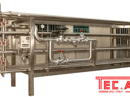 CONCENTRIC PIPES PASTEURIZER FOR PUREES AND JUICES