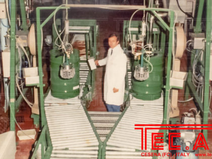 DRUMS FILLING AND PALLETIZING LINE